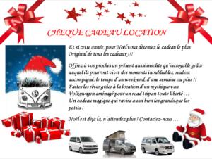 Cheque cadeau location combi VW