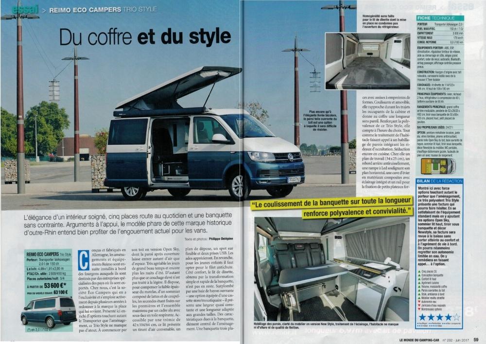 Article fourgon aménagé Le Monde Du Camping Car