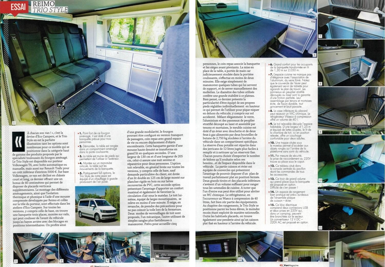 Article fourgon aménagé Van Magazine